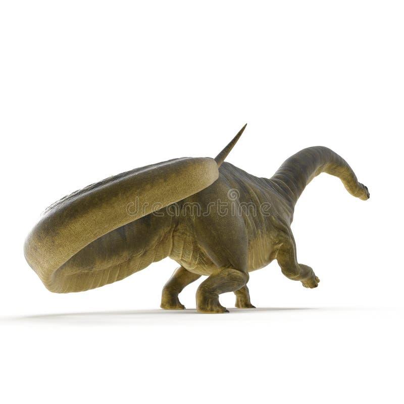 Dinosaurio del Apatosaurus en blanco ilustración 3D libre illustration