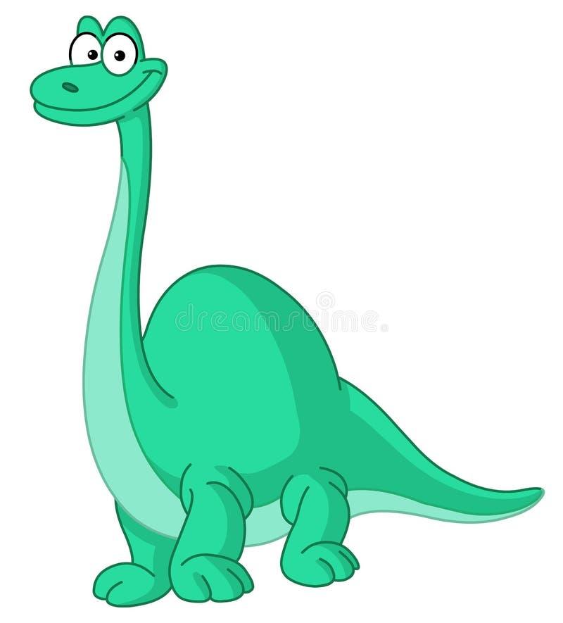 Dinosaurio del Brontosaurus stock de ilustración