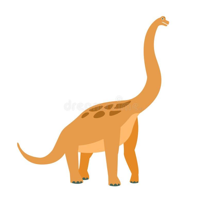 Dinosaurio del período jurásico, animal realista del Brachiosaurus de la historieta gigante extinta prehistórica del reptil libre illustration
