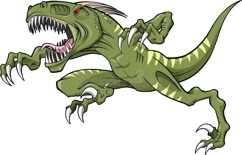 Dinosaurio del rapaz stock de ilustración