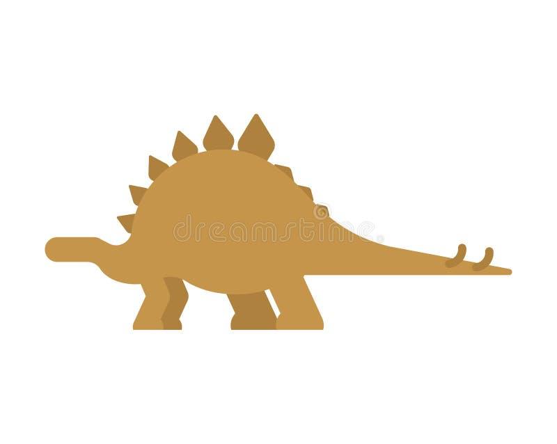 Dinosaurio del Stegosaurus aislado Animal antiguo Dino prehistórico ilustración del vector