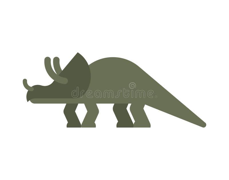Dinosaurio del Triceratops aislado Animal antiguo Dino prehistórico ilustración del vector