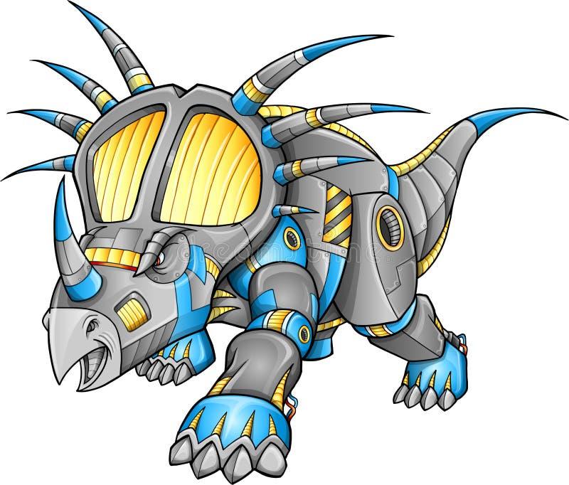 Dinosaurio del Triceratops de la máquina del robot libre illustration