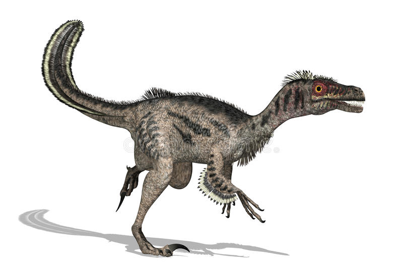 Dinosaurio del Velociraptor stock de ilustración