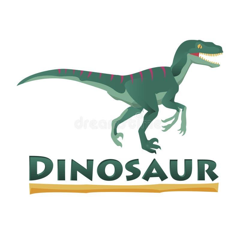 Dinosaurio del Velociraptor Dise?o EPS 10 del vector ilustración del vector