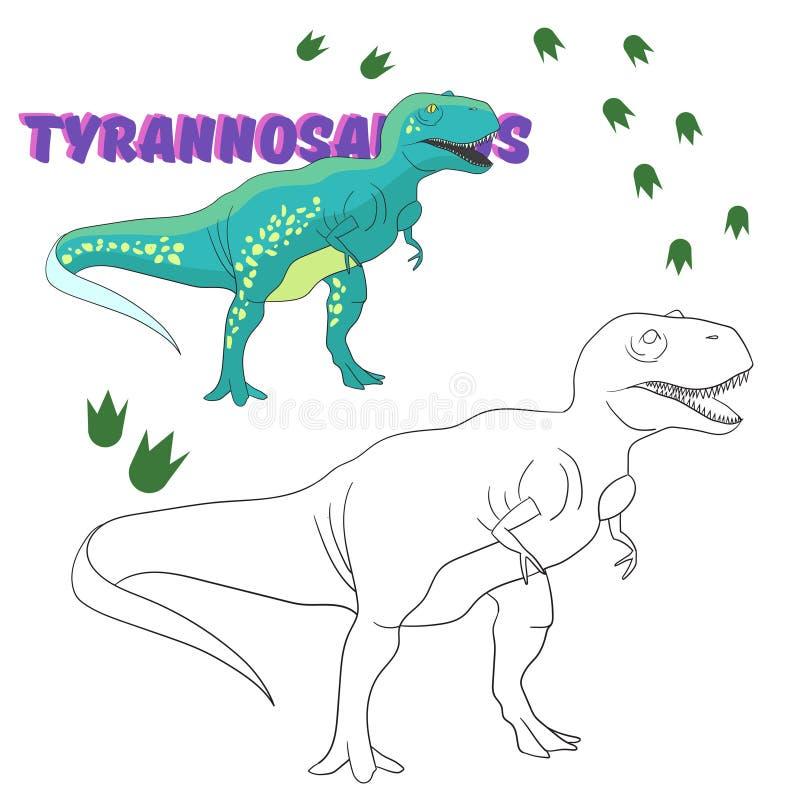 Dinosaurio Educativo Del Libro De Colorear Del Juego Ilustración del ...