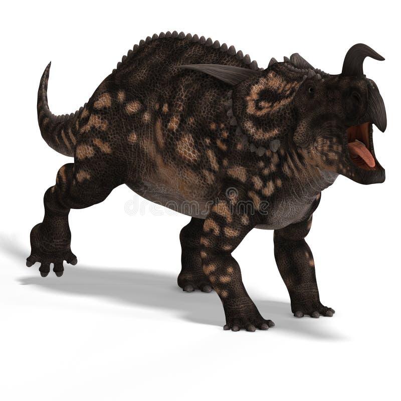 Dinosaurio Einiosaurus ilustración del vector