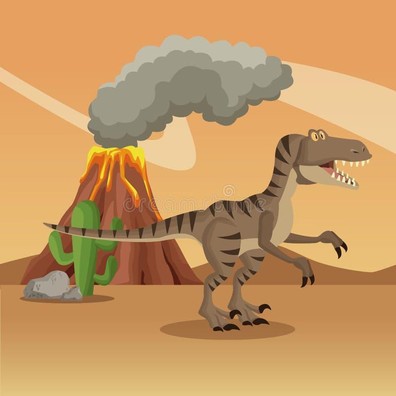 Dinosaurio en el bosque libre illustration
