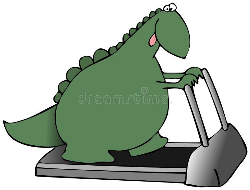 Dinosaurio En Una Rueda De Ardilla Imagen de archivo libre de regalías