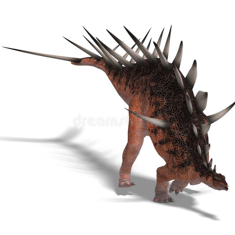 Dinosaurio gigante del kentrosaurus stock de ilustración