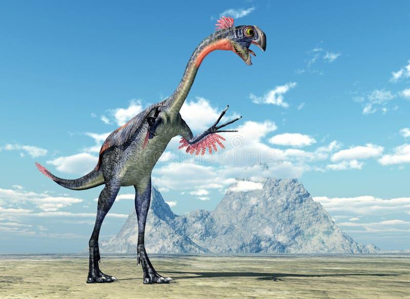 Dinosaurio Gigantoraptor stock de ilustración