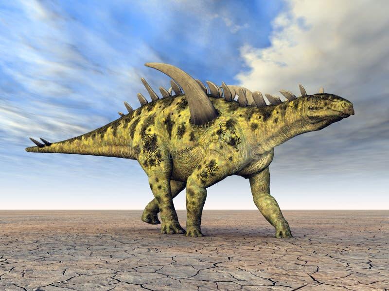 Dinosaurio Gigantspinosaurus ilustración del vector