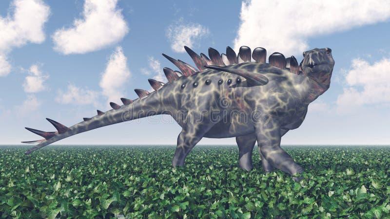 Dinosaurio Huayangosaurus stock de ilustración