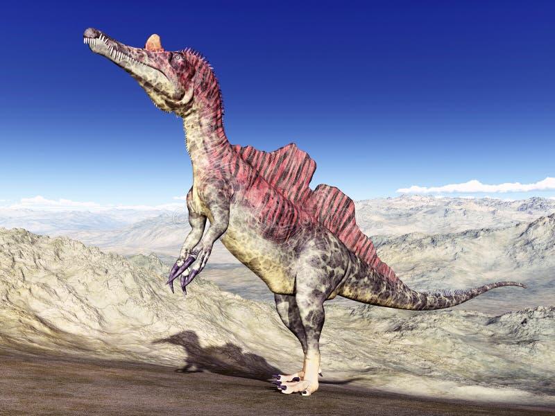Dinosaurio Ichthyovenator ilustración del vector