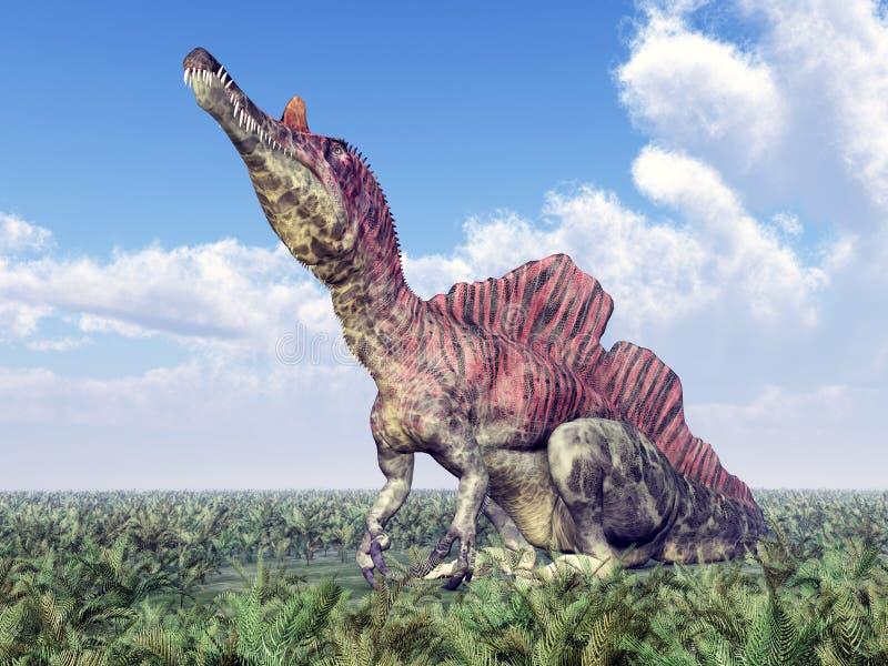Dinosaurio Ichthyovenator stock de ilustración