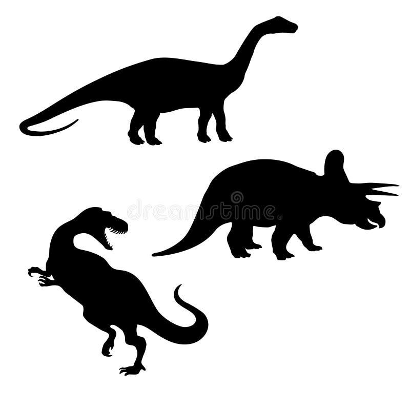 Dinosaurio, jurásico, triceratops, brontosaurus, rex de t, tiranosaurio, paleontología, museo, día internacional del museo, paleo ilustración del vector