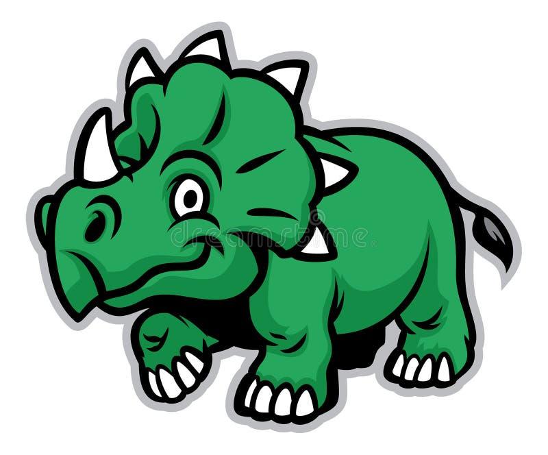 Dinosaurio lindo stock de ilustración