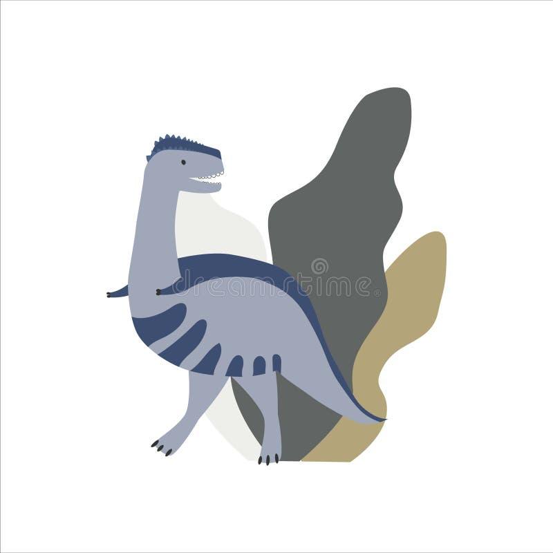 Dinosaurio lindo con las plantas libre illustration