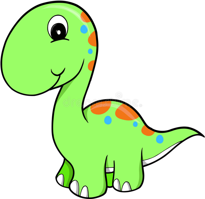 Dinosaurio lindo del vector ilustración del vector