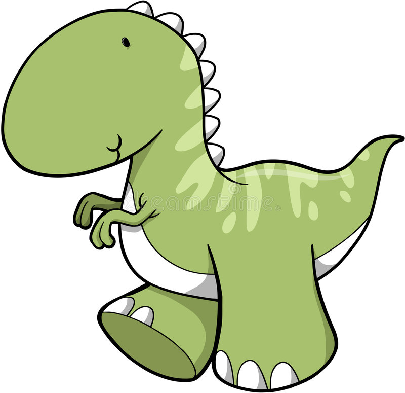 Dinosaurio lindo del vector stock de ilustración