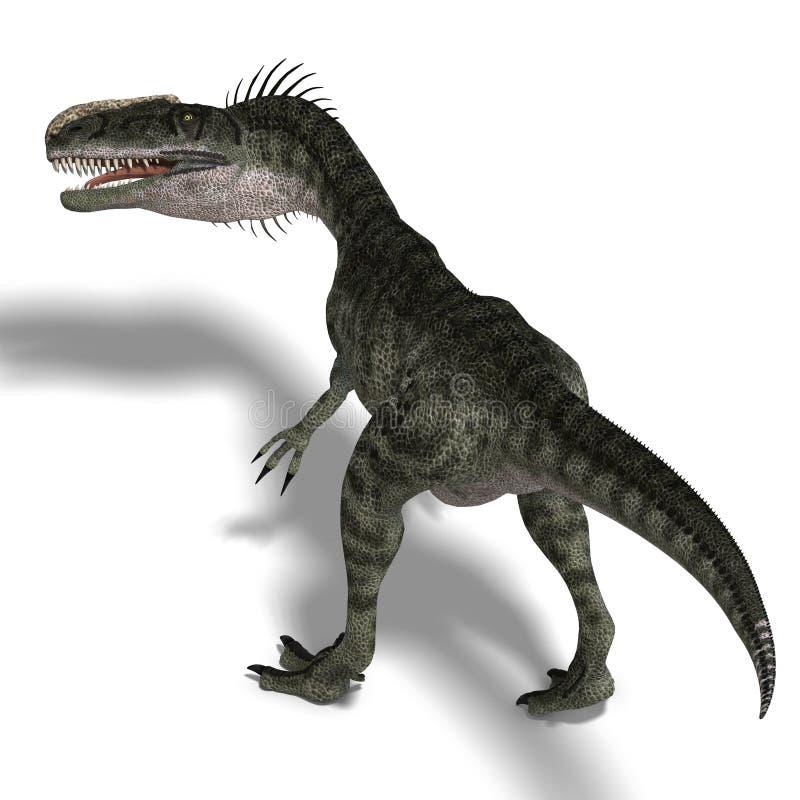 Dinosaurio Monolophosaurus ilustración del vector