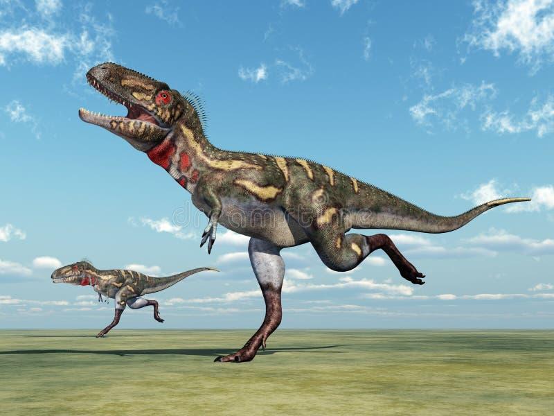 Dinosaurio Nanotyrannus ilustración del vector