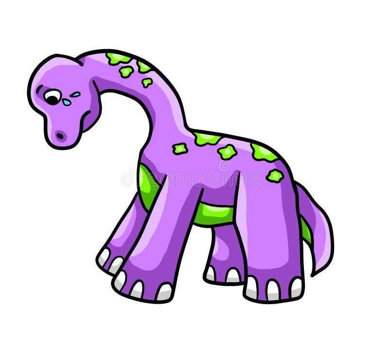 Dinosaurio púrpura 2 ilustración del vector