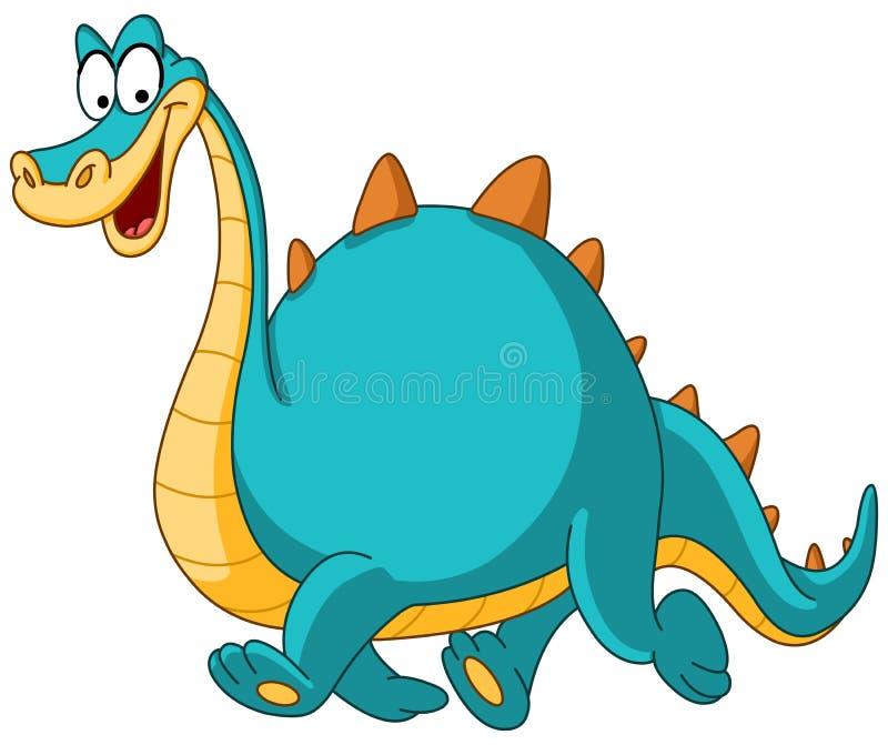 Dinosaurio que recorre stock de ilustración
