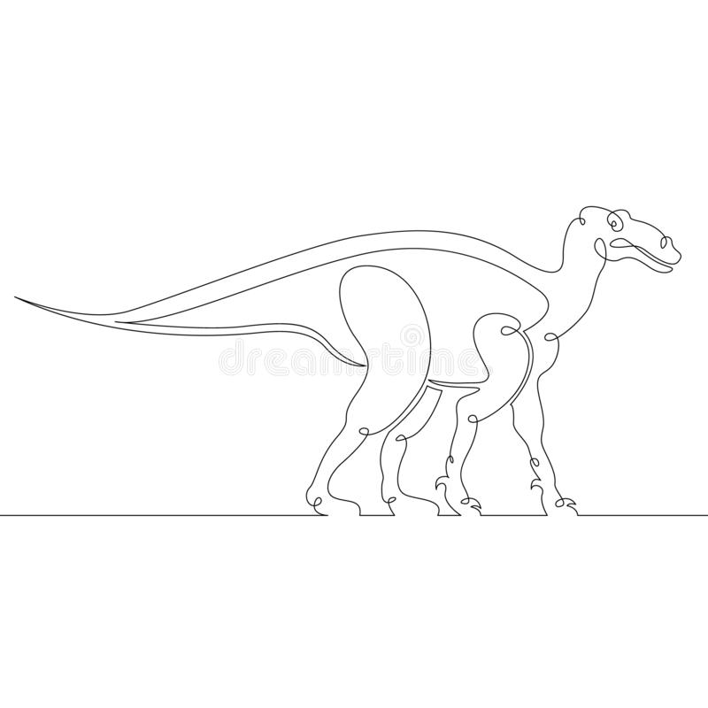 Dinosaurio, reptil, jurásico, animal, monstruo, extinto, salvaje, antiguo, criatura ilustración del vector