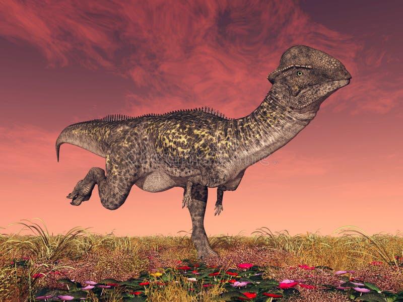 Dinosaurio Stegoceras stock de ilustración