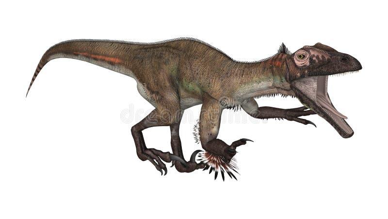 Dinosaurio Utahraptor stock de ilustración