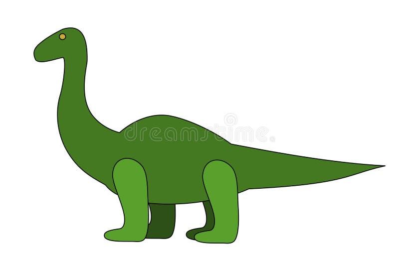 Dinosaurio verde fotografía de archivo libre de regalías