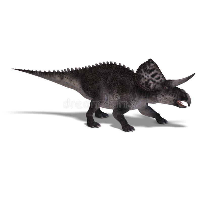Dinosaurio Zuniceratops ilustración del vector