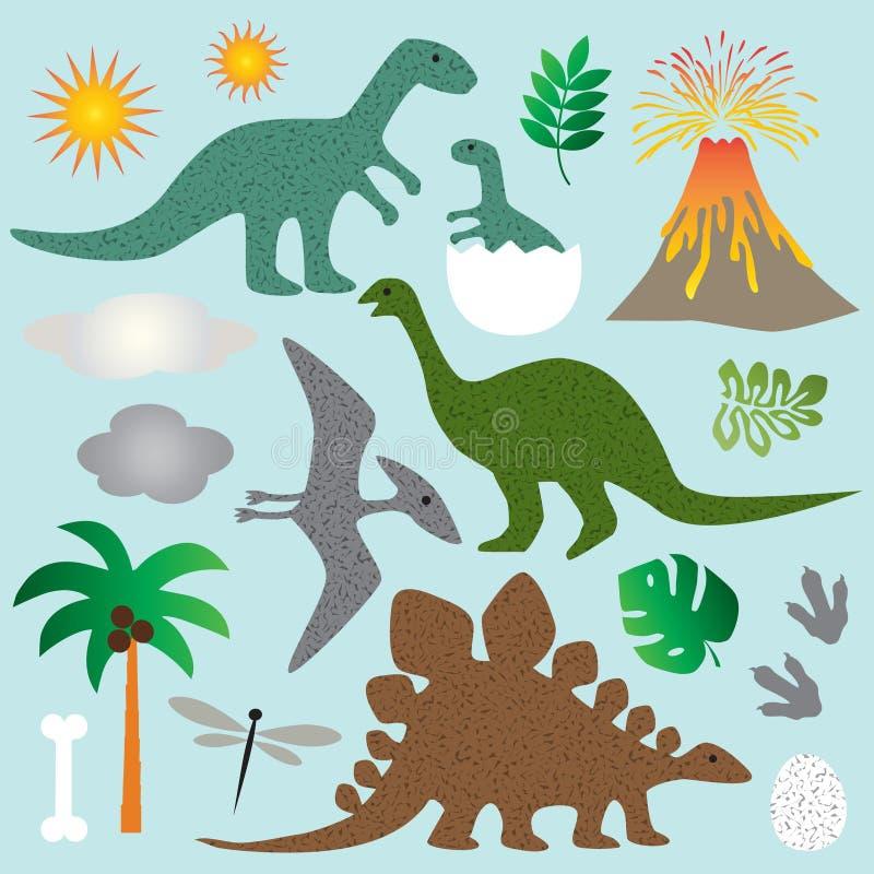 Dinosaurios stock de ilustración