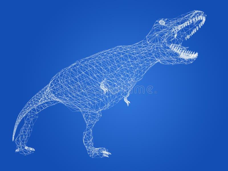 Dinosaurios del tiranosaurio, representación 3d ilustración del vector