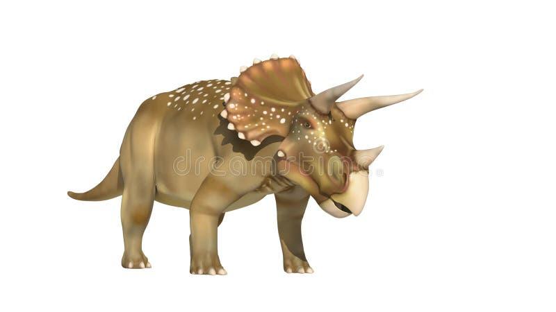 Dinosaurios del Triceratops stock de ilustración