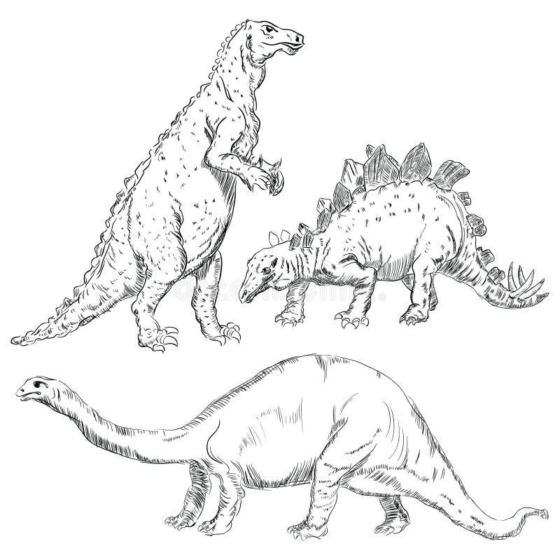 Dinosaurios Fijados Fotos de archivo