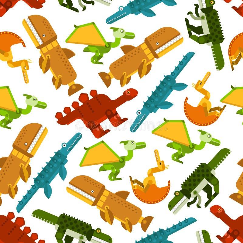 Dinosaurios inconsútiles y modelo prehistórico de los animales ilustración del vector