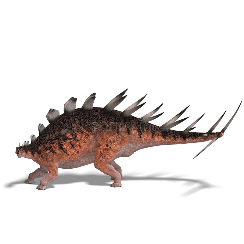 dinosaurjättekentrosaurus stock illustrationer