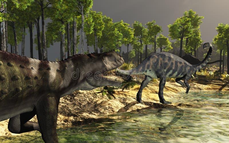 dinosaurkust royaltyfri illustrationer