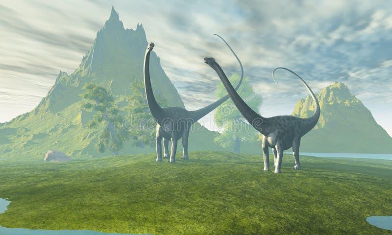 dinosaurland vektor illustrationer
