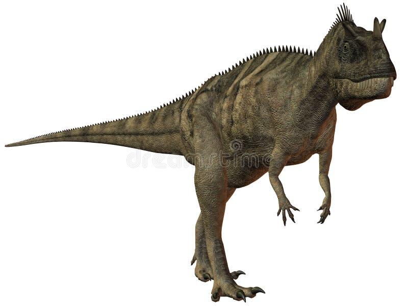 dinosaurnasicornis för ceratosaurus 3d stock illustrationer