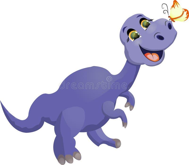 Dinosauro con la farfalla fotografia stock