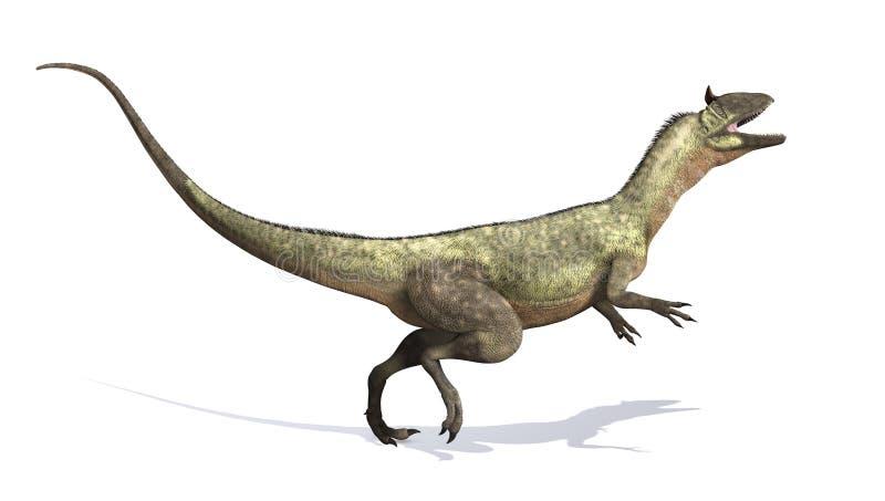 Dinosauro del Cryolophosaurus illustrazione di stock