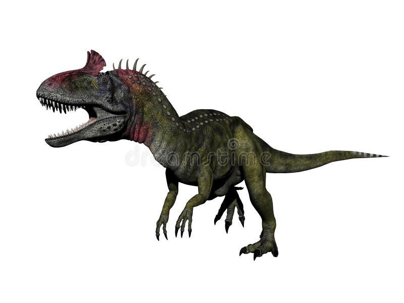 Dinosauro del Cryolophosaurus - 3d rendono illustrazione di stock