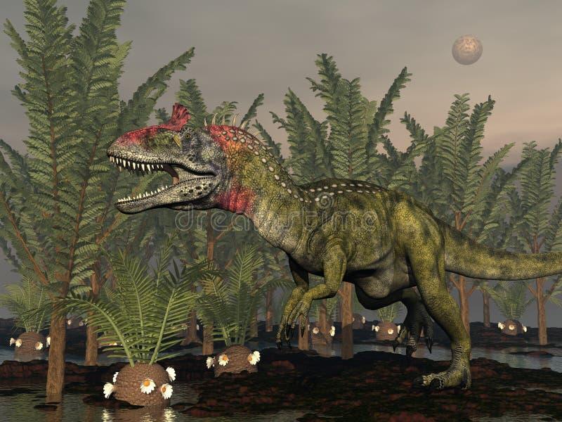 Dinosauro del Cryolophosaurus - 3d rendono illustrazione vettoriale