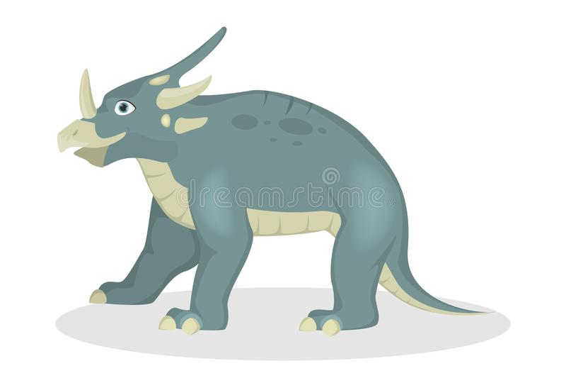 Dinosauro dello Styracosaurus isolato royalty illustrazione gratis
