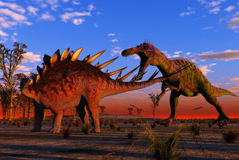Dinosauro di caccia illustrazione di stock
