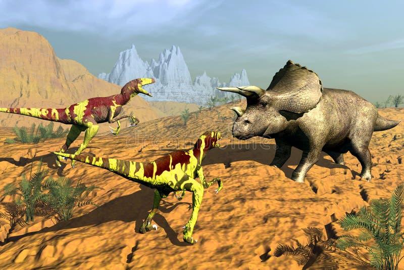 Dinosauro di caccia royalty illustrazione gratis