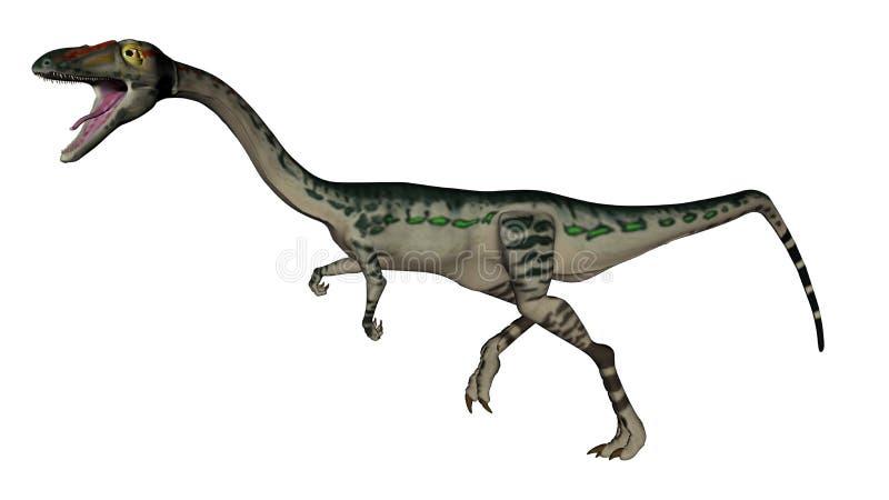 Download Dinosauro Di Coelophysis - 3D Rendono Illustrazione di Stock - Illustrazione di bianco, funzionamento: 55361913